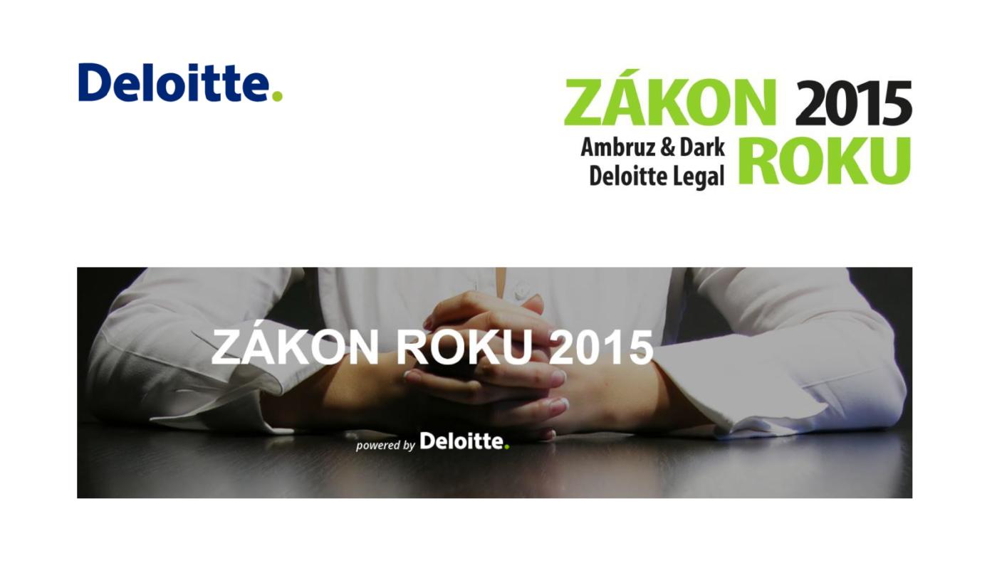 Deloitte - Zákon roku