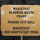 Magistrát hl. města Prahy - cedule