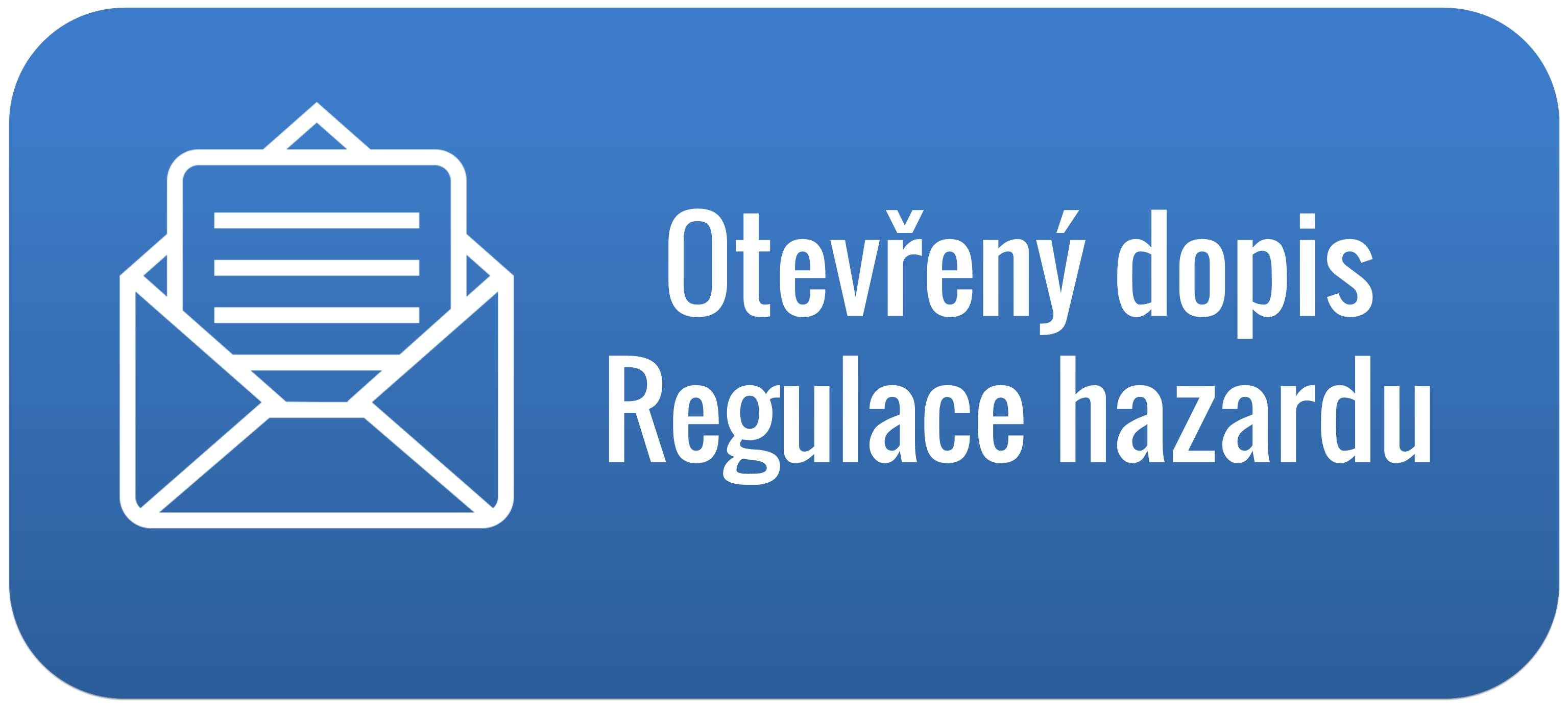 Otevřený dopis - Regulace hazardu - web