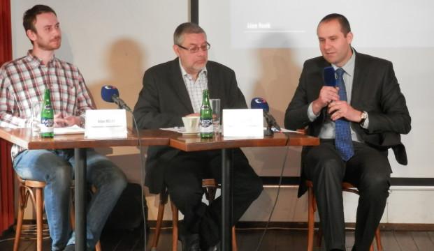 Tiskové konference se zúčastnil také tiskový mluvčí Tatra Trucks, a.s. Andrej Čírtek