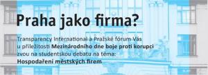Praha jako firma