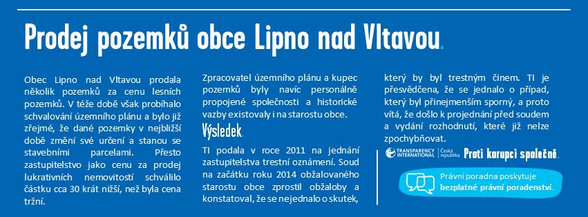 Prodej pozemků obce Lipno nad Vltavou - Infografika