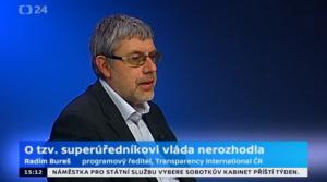 Radim Bureš, programový ředitel TI v pořadu Studio ČT24