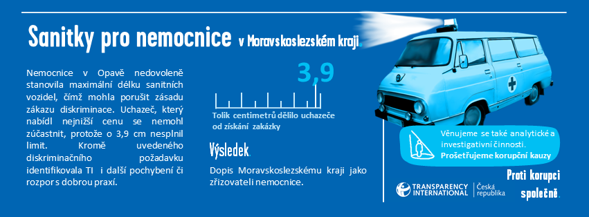 Sanitky pro nemocnice v Moravskoslezském kraji - Infografika