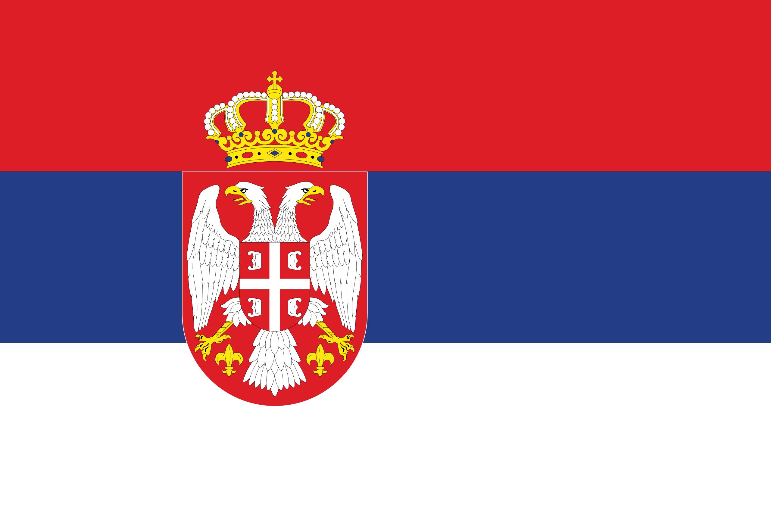 Srbsko - vlajka