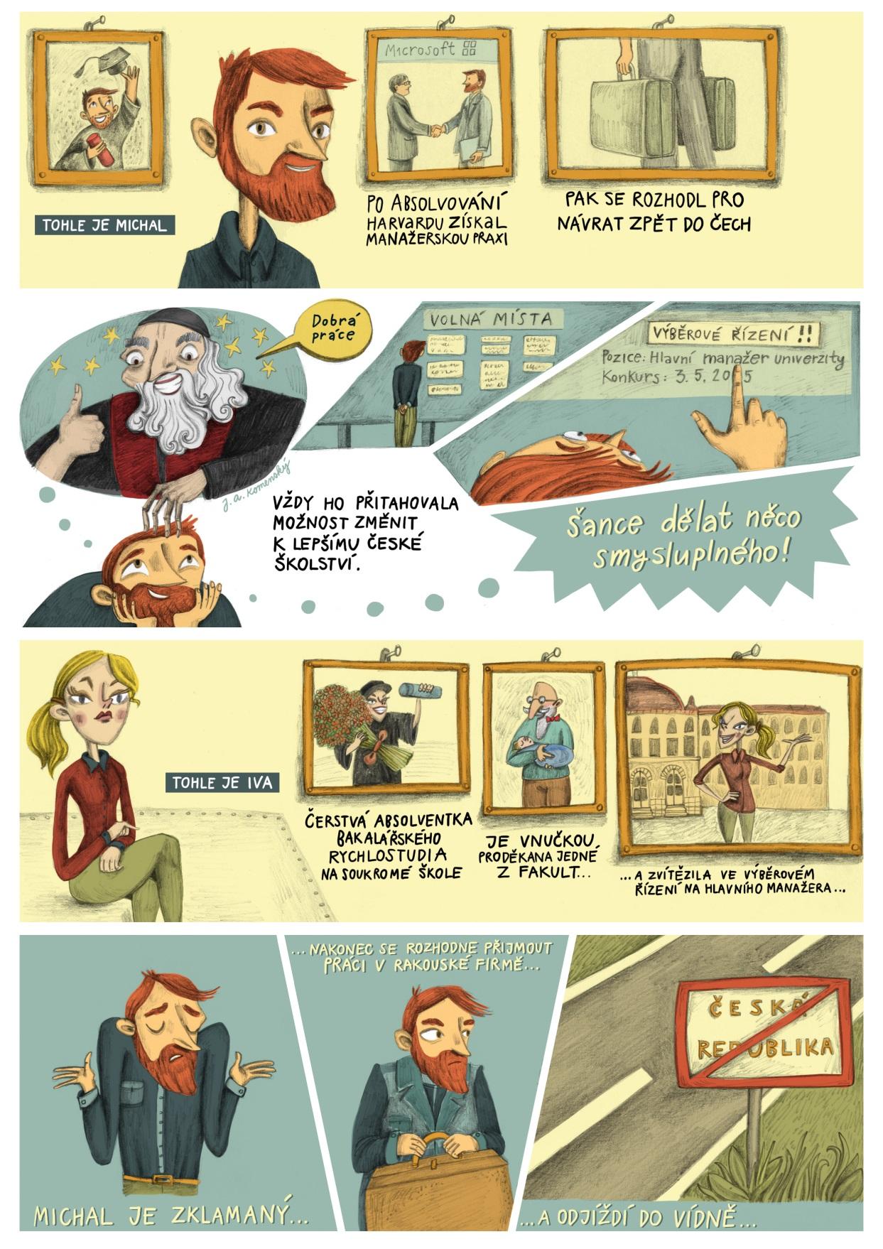 Ukázka komiksu k tématu