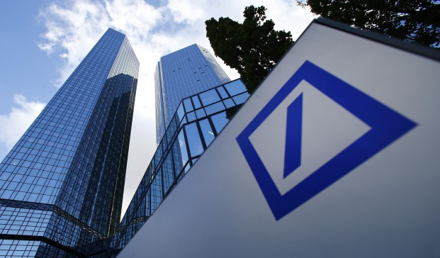 The headquarters of Deutsche Bank are pictured in Frankfurt in this October 29, 2013 file picture. German banking regulator Bafin has demanded documents from Deutsche Bank as part of a probe into suspected manipulation of benchmark gold and silver prices by banks, the Financial Times reported, citing sources. Picture taken October 29, 2013.   REUTERS/Ralph Orlowski/Files (GERMANY - Tags: BUSINESS)